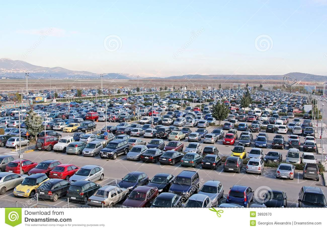 Parking Lot Full Of Cars Stock Photo Image Of Parking 3892670