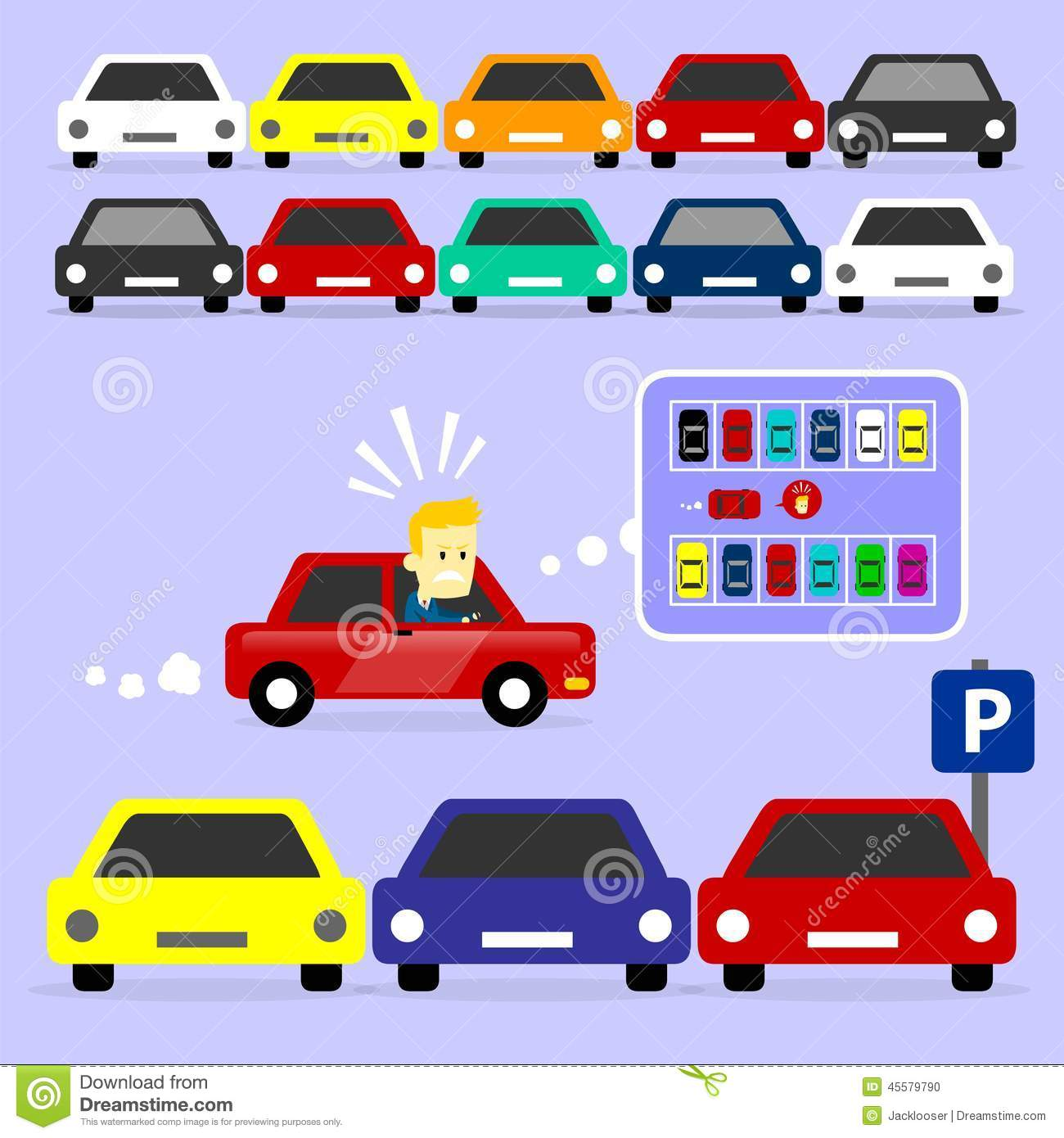 Parking Lot Is Full Stock Vector