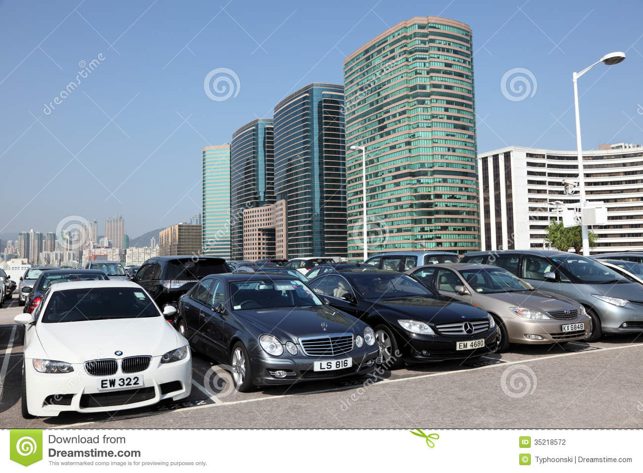 Parking Lot In Hong Kong Editorial Photography Image Of