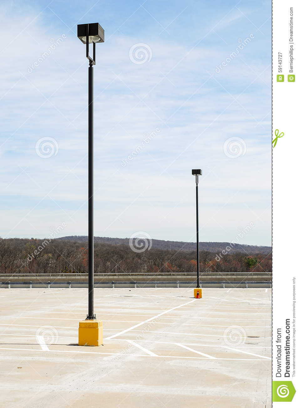 Parking Lot Lights Stock Image Image Of Roof Lamps 59143727