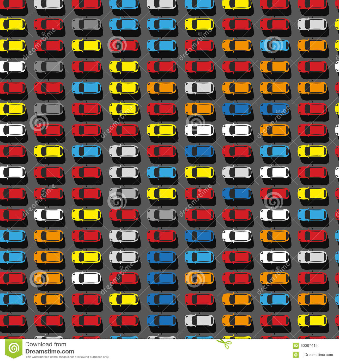 Parking Lot Top View Stock Vector - Image: 60087415