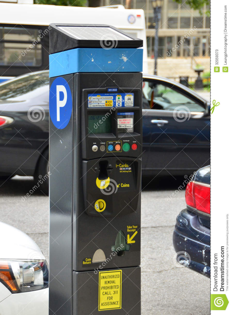 Parking Meter In New York City Editorial Stock Photo