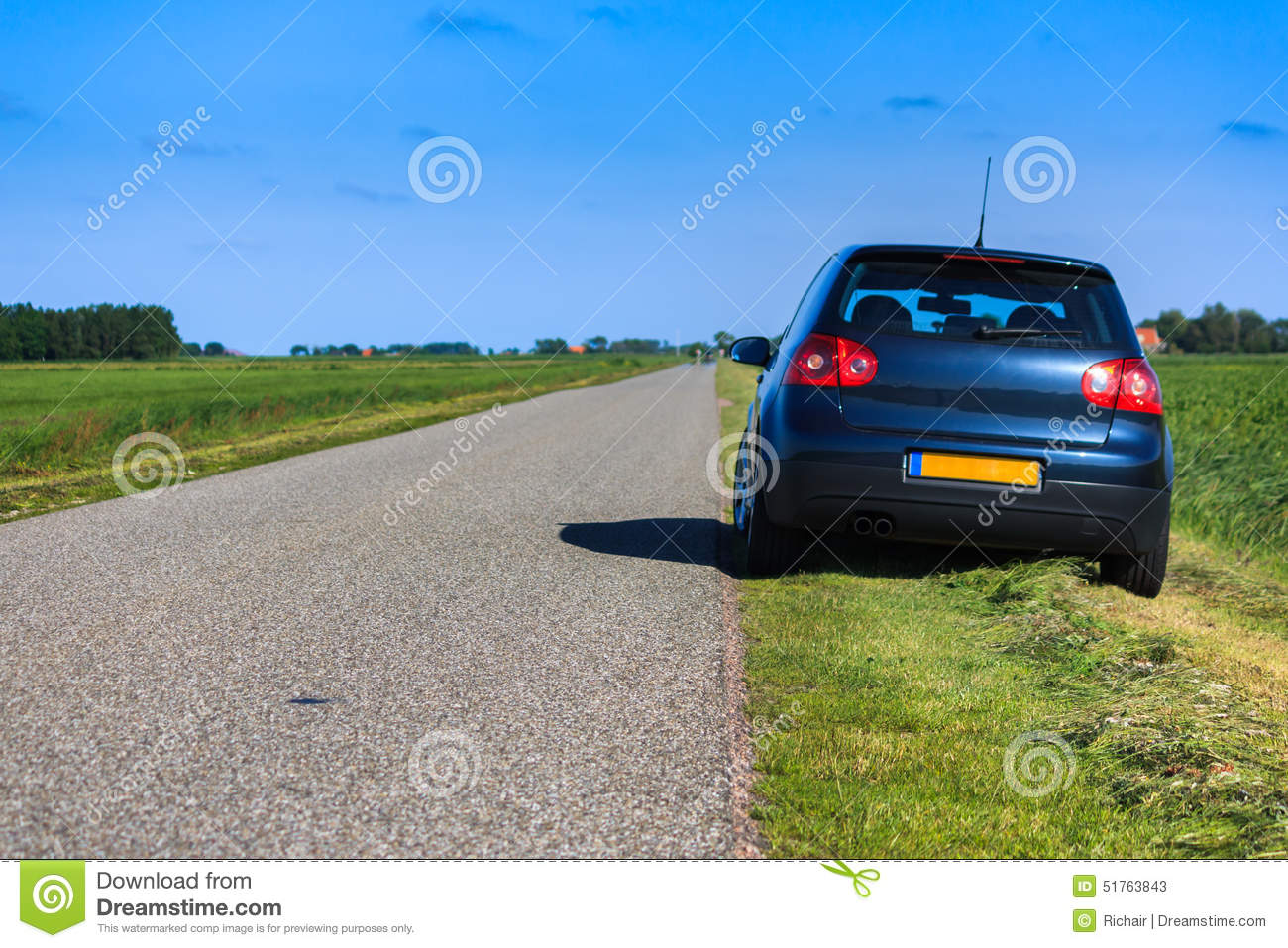 Parking At Side Of The Road Stock Photo Image 51763843