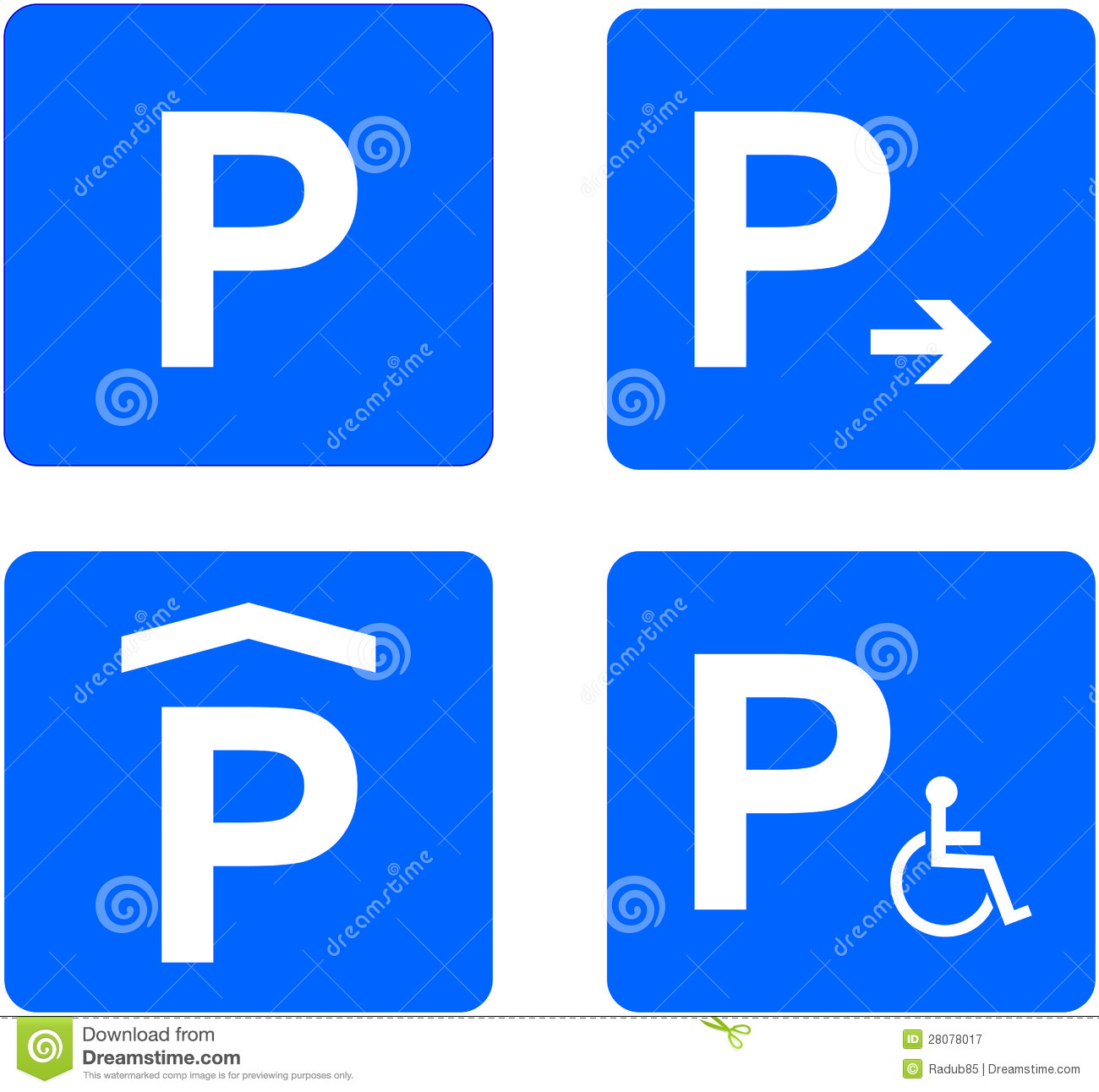 Parking Sign Royalty Free Stock Photography Image 28078017
