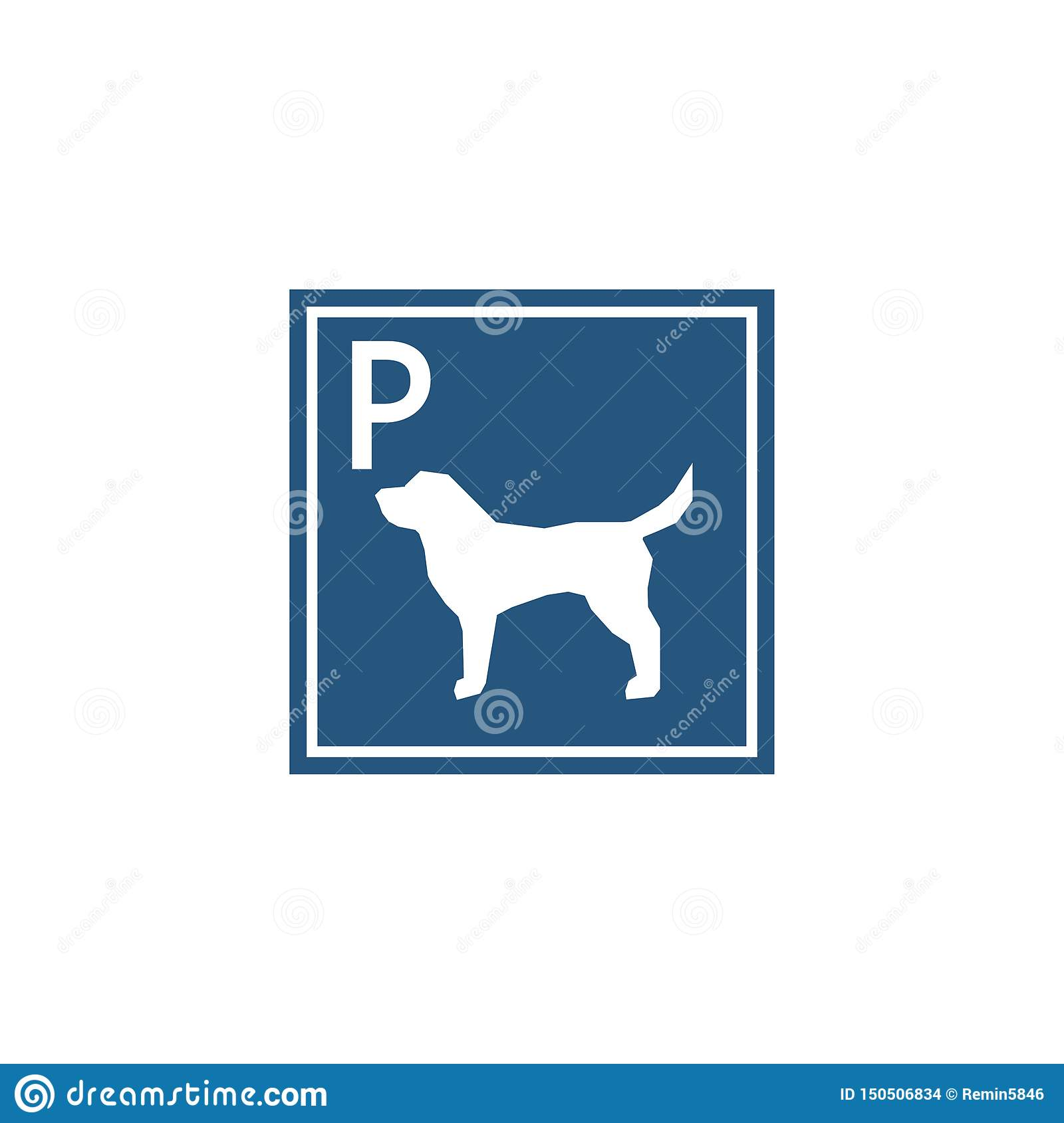 Parking sign for dogs