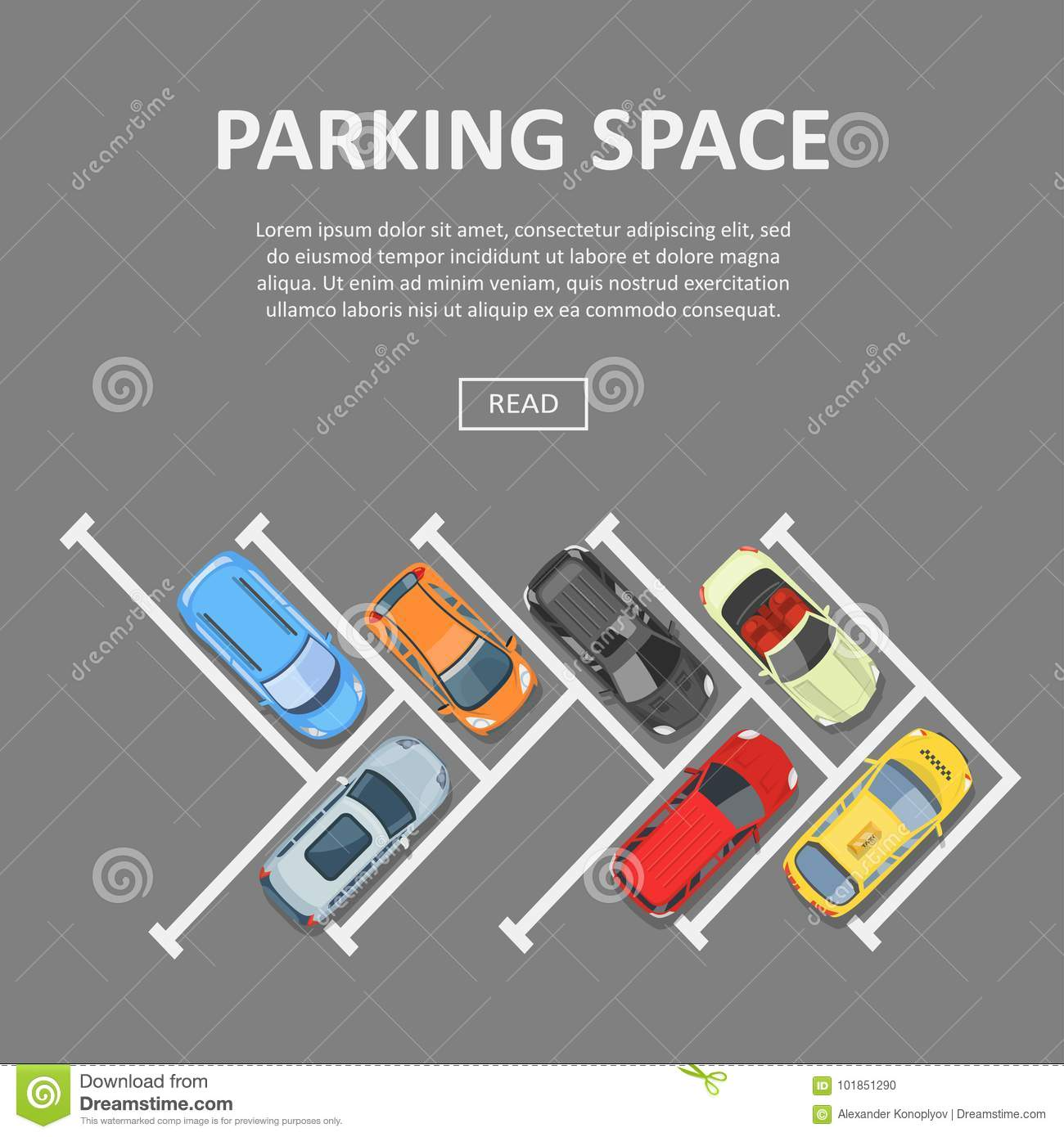 Parking Space Template Stock Vector Illustration Of Isolated
