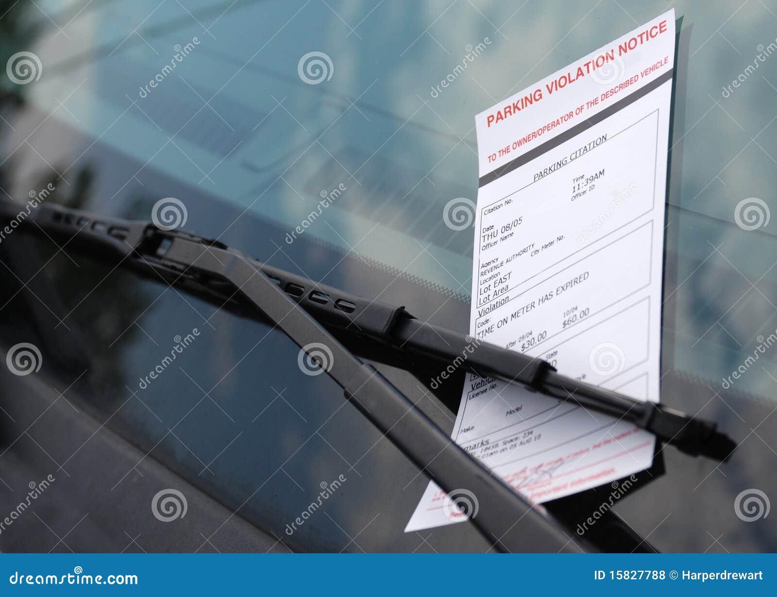Park Car Ticket Chalk