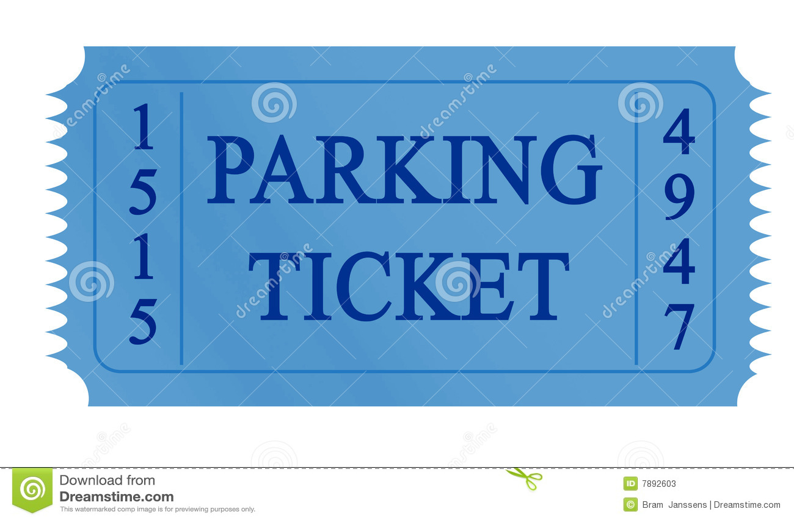 Parking Ticket Stock Photos Image 7892603