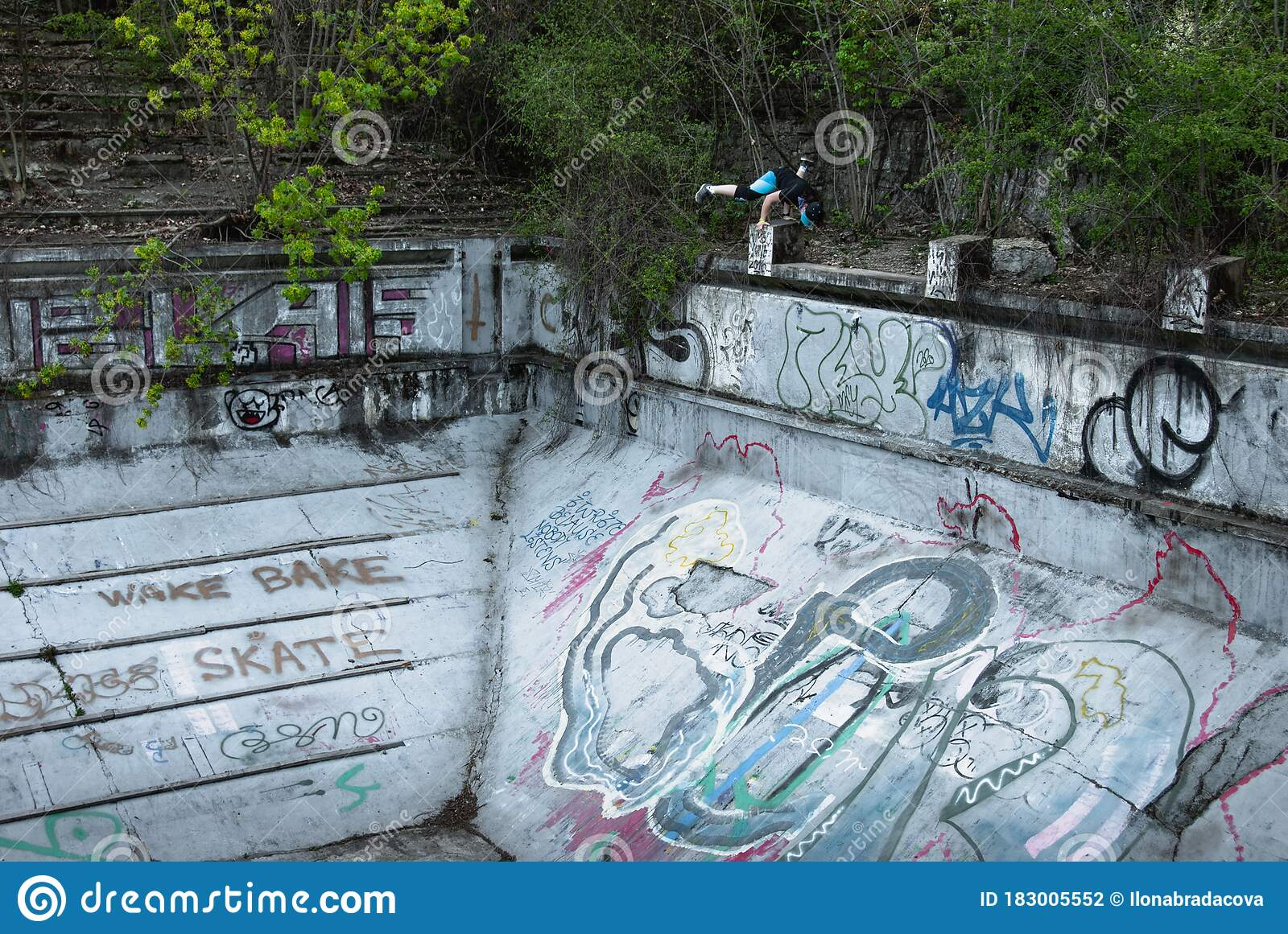 Barrandov Terraces Abandoned Swimming Pool Editorial Photography Image Of Freeze Pool 183005552