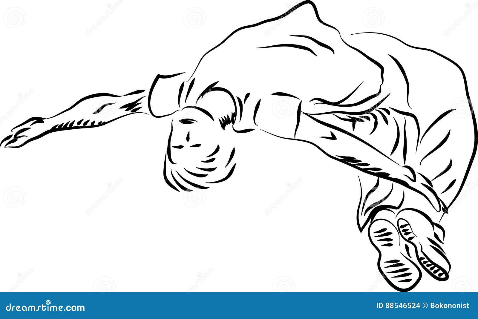 parkour flip stock vector illustration of activity