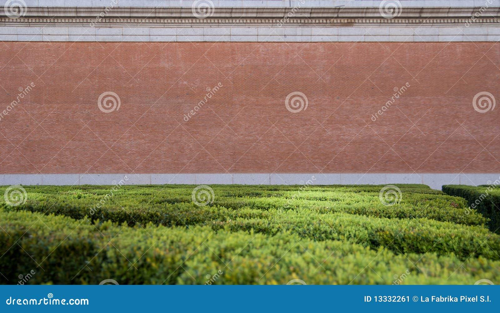 Parkowa ściana