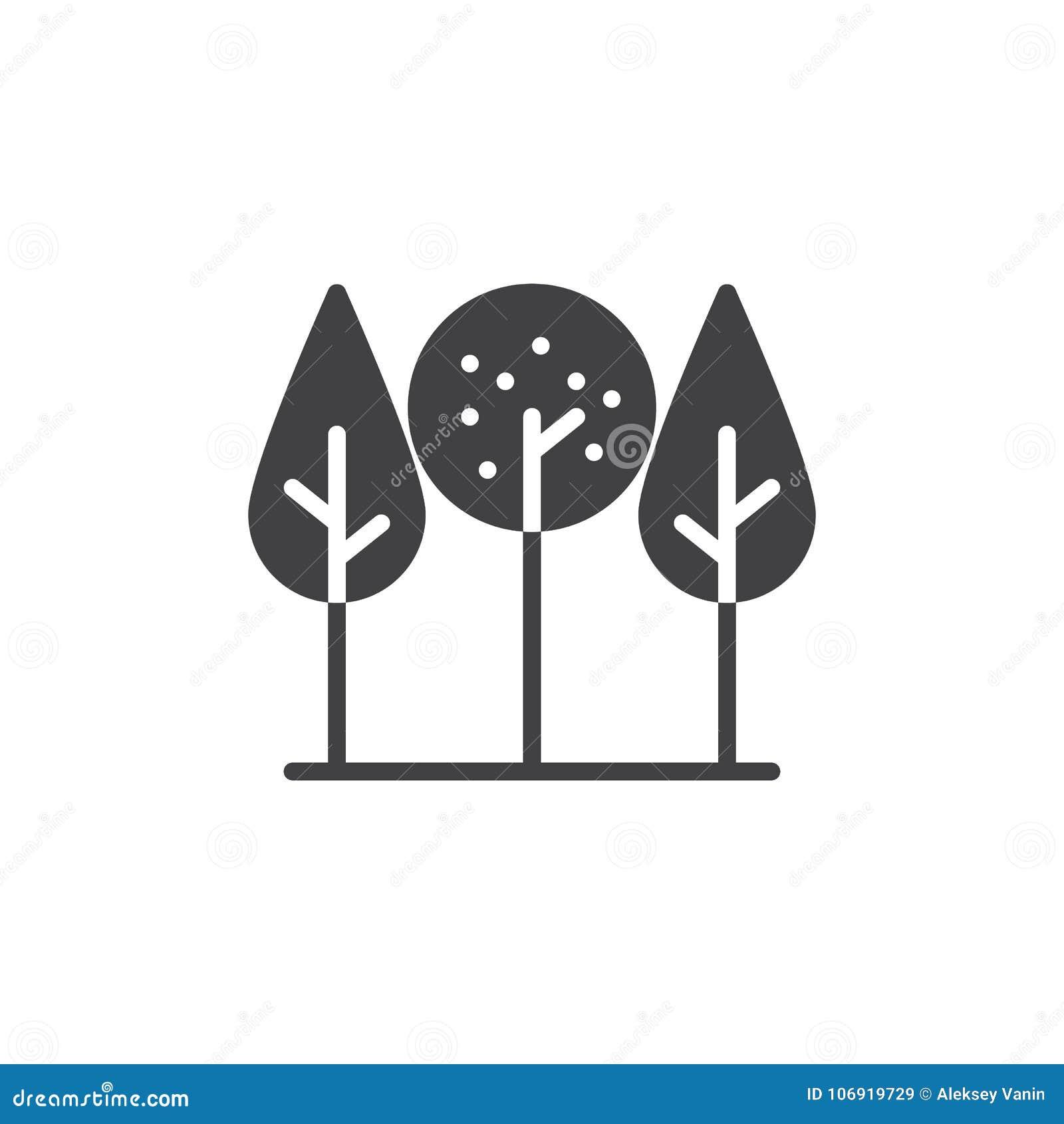 Parkowy drzewo ikony wektor