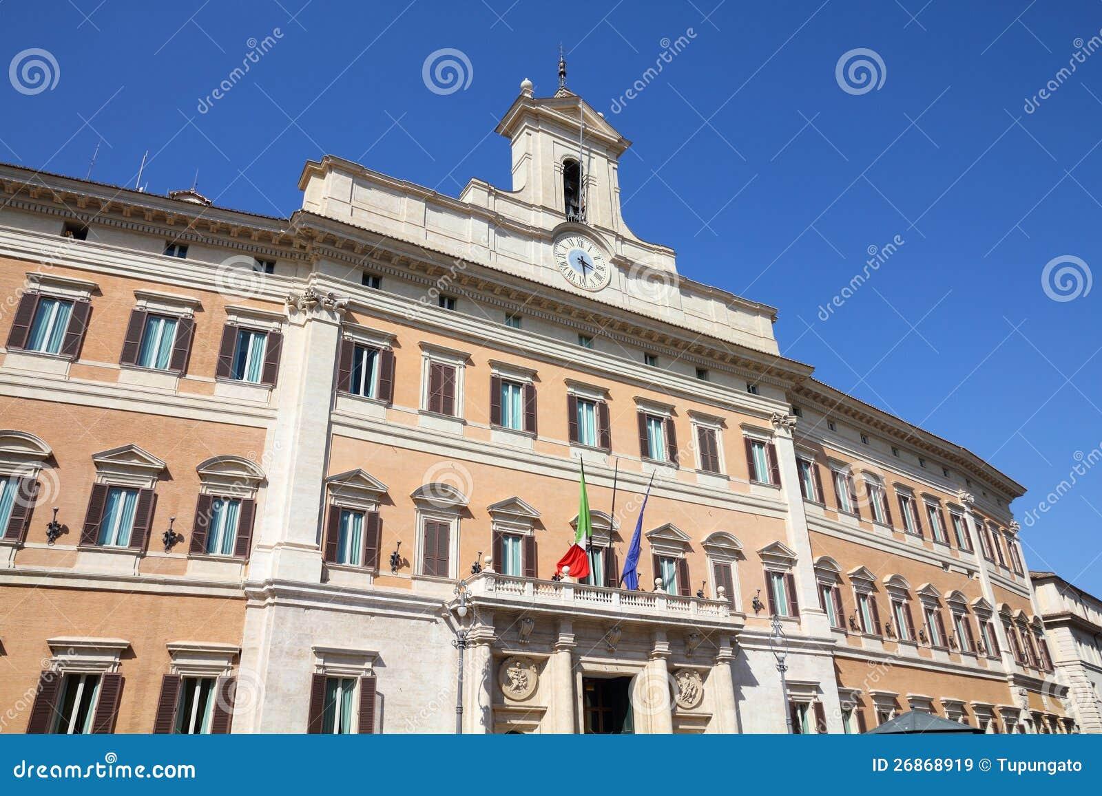 parlament von italien stockbild bild von grenzstein