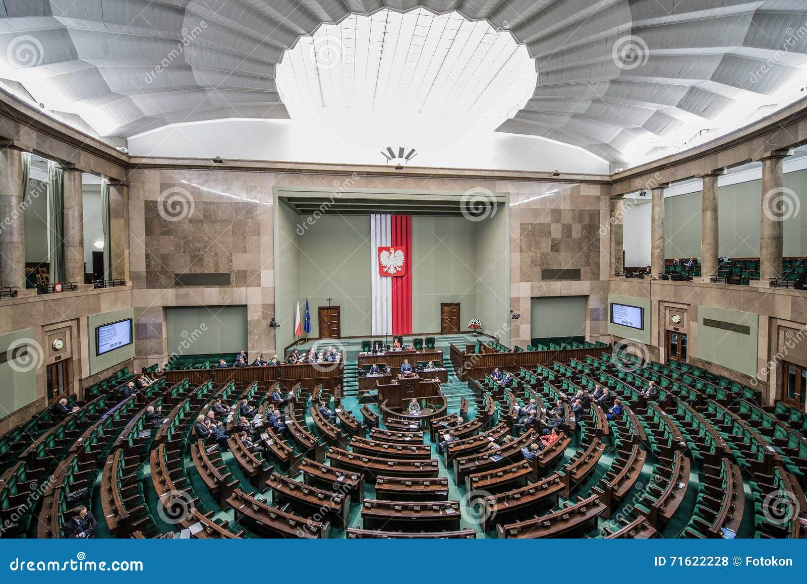 Parlementsgebouw in Polen