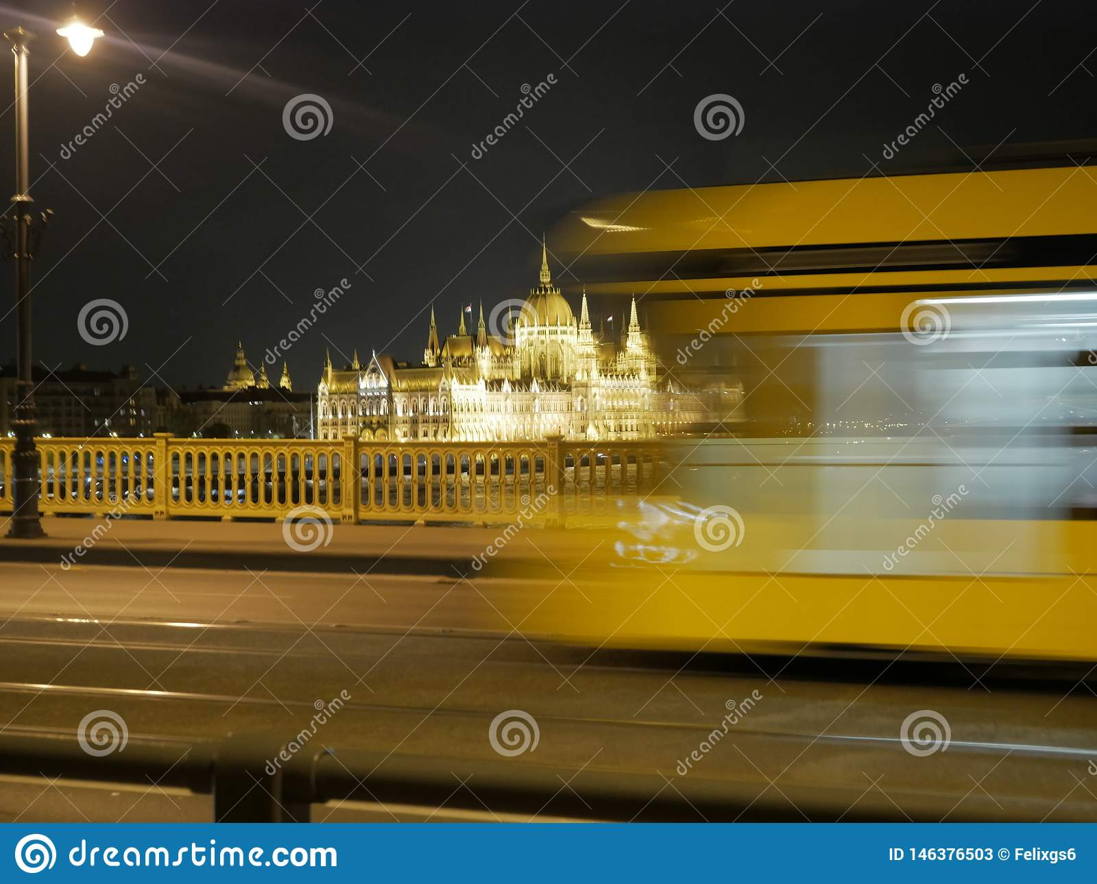 Parliament Building  of Budapest  night time