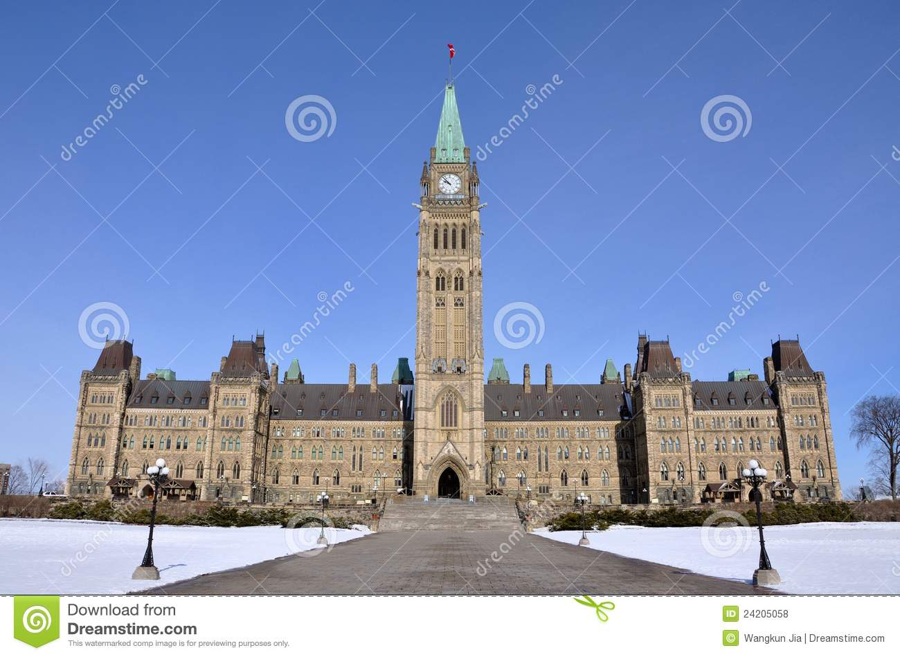 Parliament Buildings Winter View, Ottawa, Canada Royalty ... Golf Ball On Tee Clipart