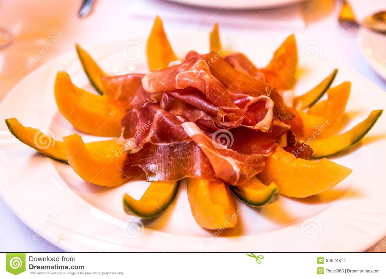 Stock Images: Parma ham and melon from Bologna, Italy