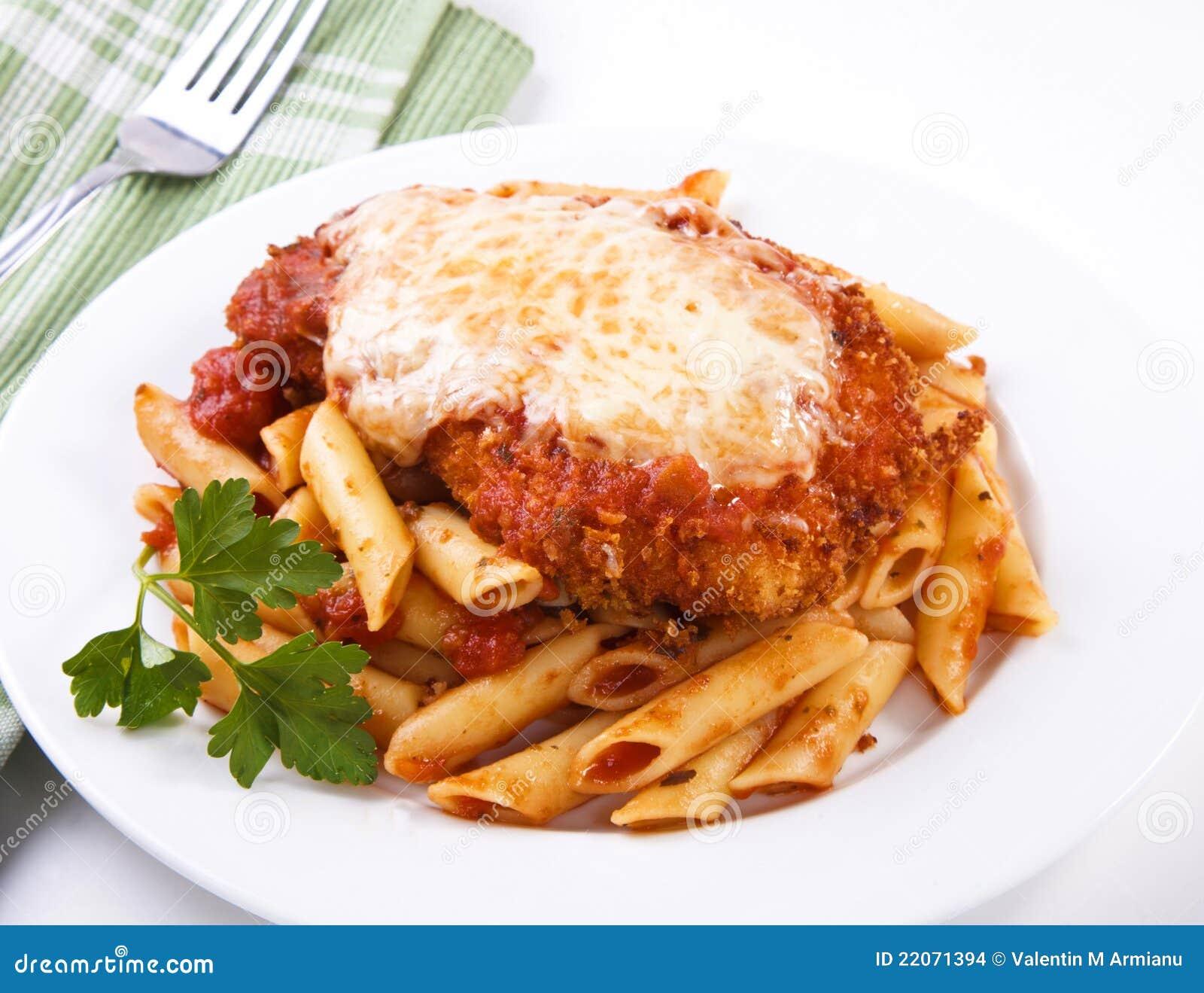 Parmigiana van de kip