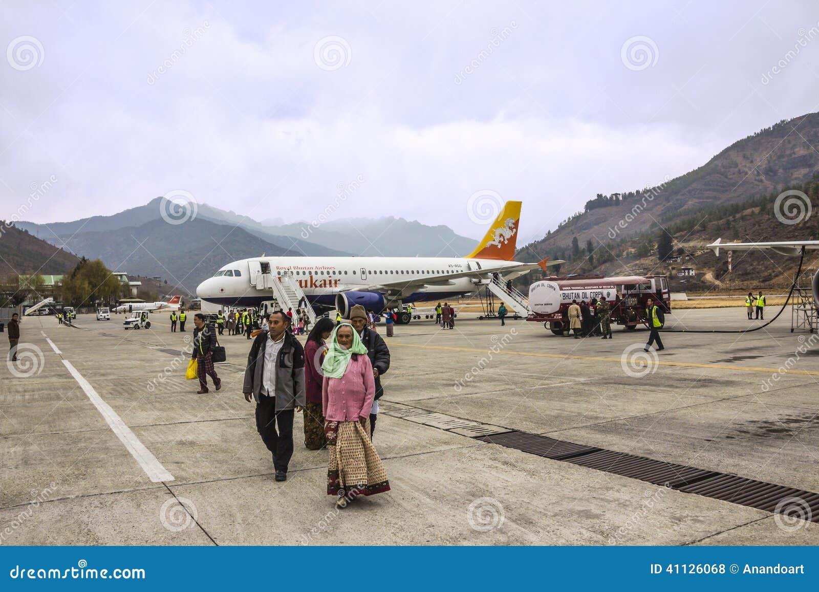 Paro Airport Bhutan Editorial Stock Photo Image Of Bhutanese