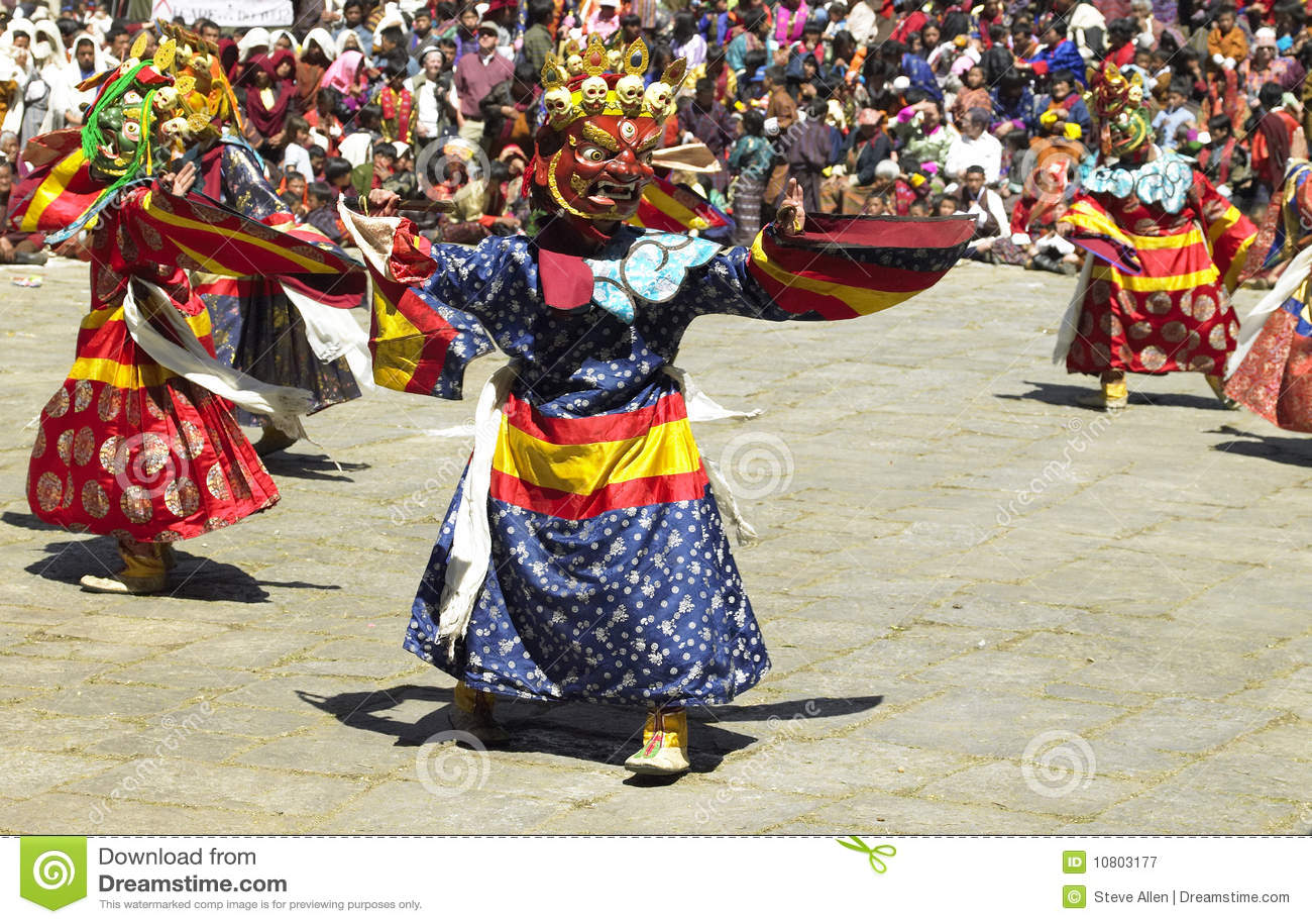 Paro Tsechu in The Kingdom of Bhutan
