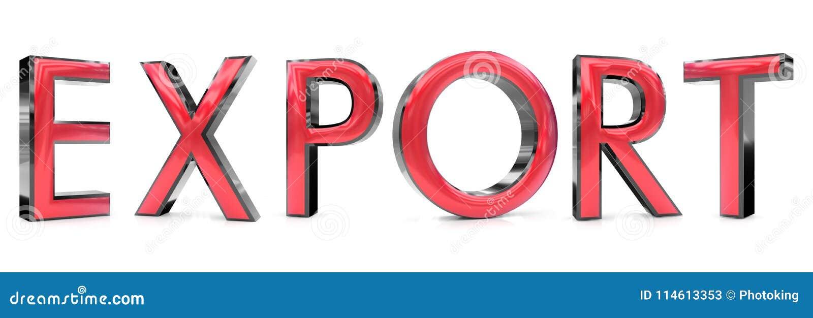 Parola dell esportazione 3d