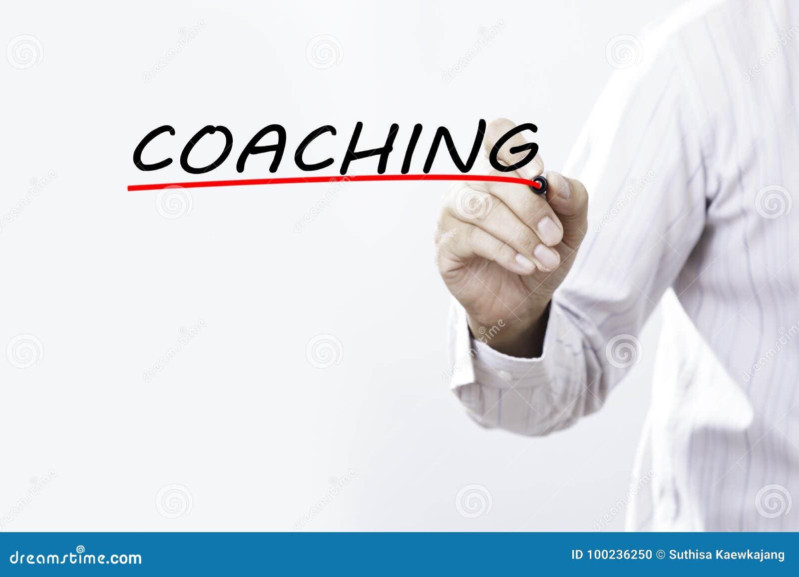 Parola di preparazione di tiraggio dell uomo d affari, pianificazione di addestramento che impara allenatore