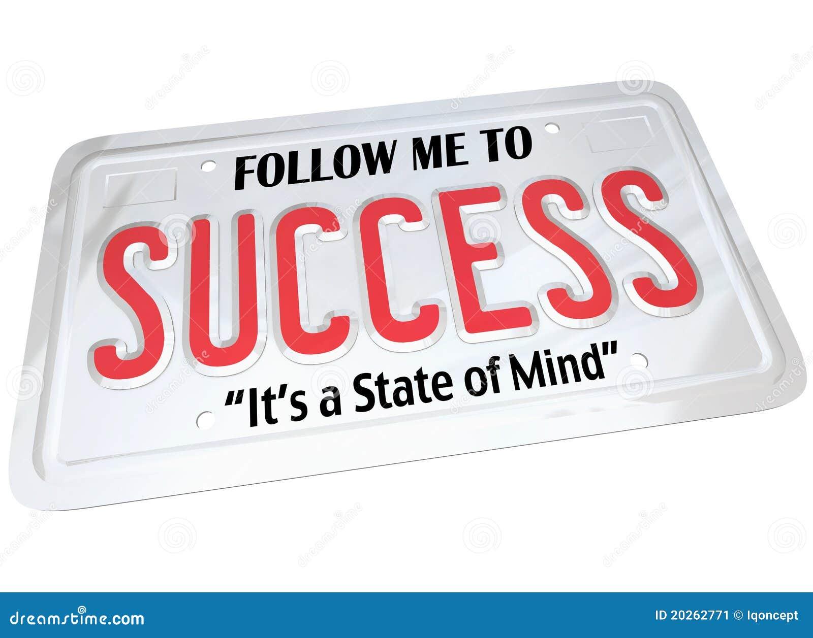 Parola di successo sulla targa di immatricolazione