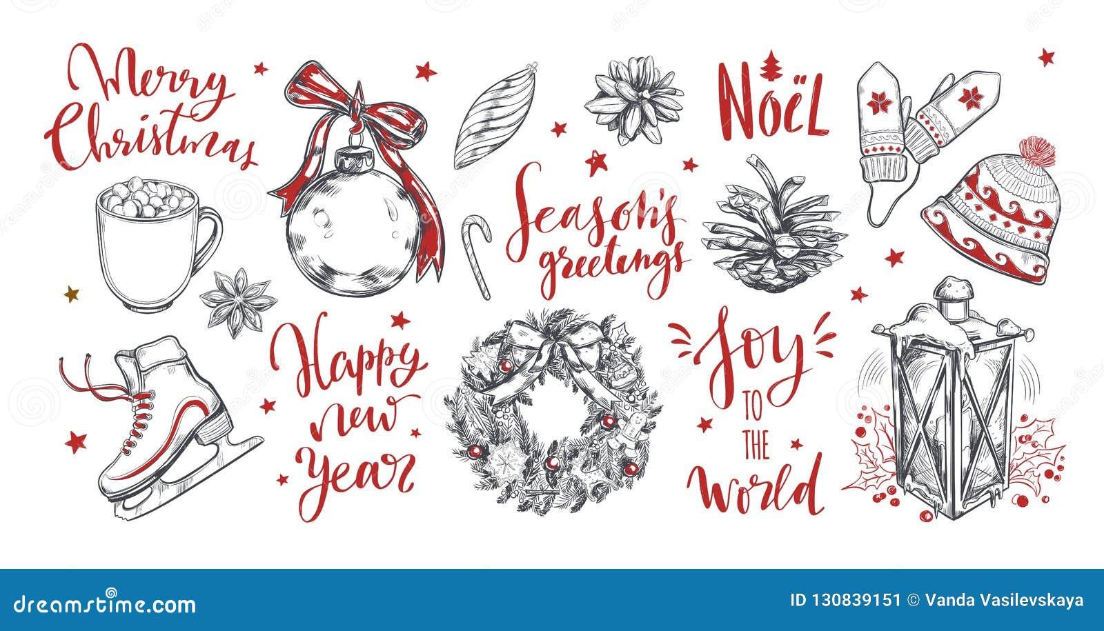 Parole Di Buon Natale.Parole Del Nuovo Anno E Di Buon Natale Con Gli Elementi D