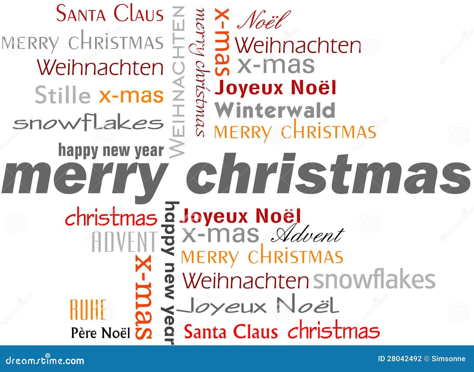 Parole Di Buon Natale.Parole Di Buon Natale Illustrazione Di Stock Illustrazione