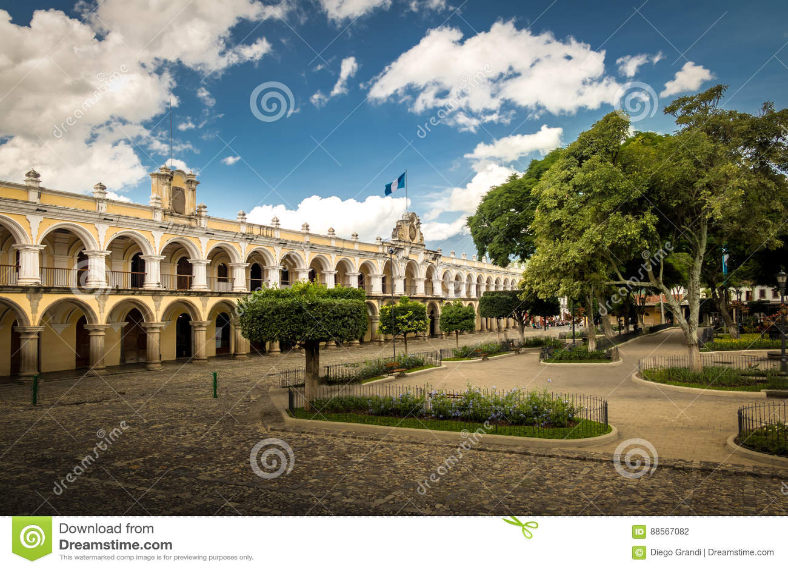 Parque中央和殖民地大厦-安提瓜岛,危地马拉