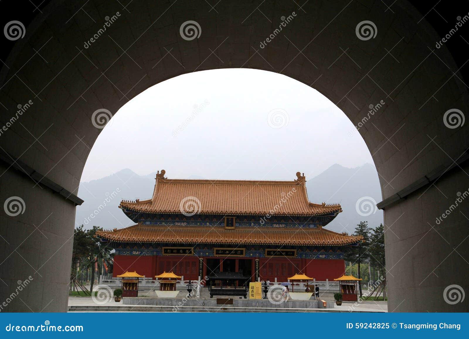 Download Parque Cultural Del Taoist De Louguantai En La Ciudad De Xian Imagen de archivo - Imagen de edificio, artístico: 59242825