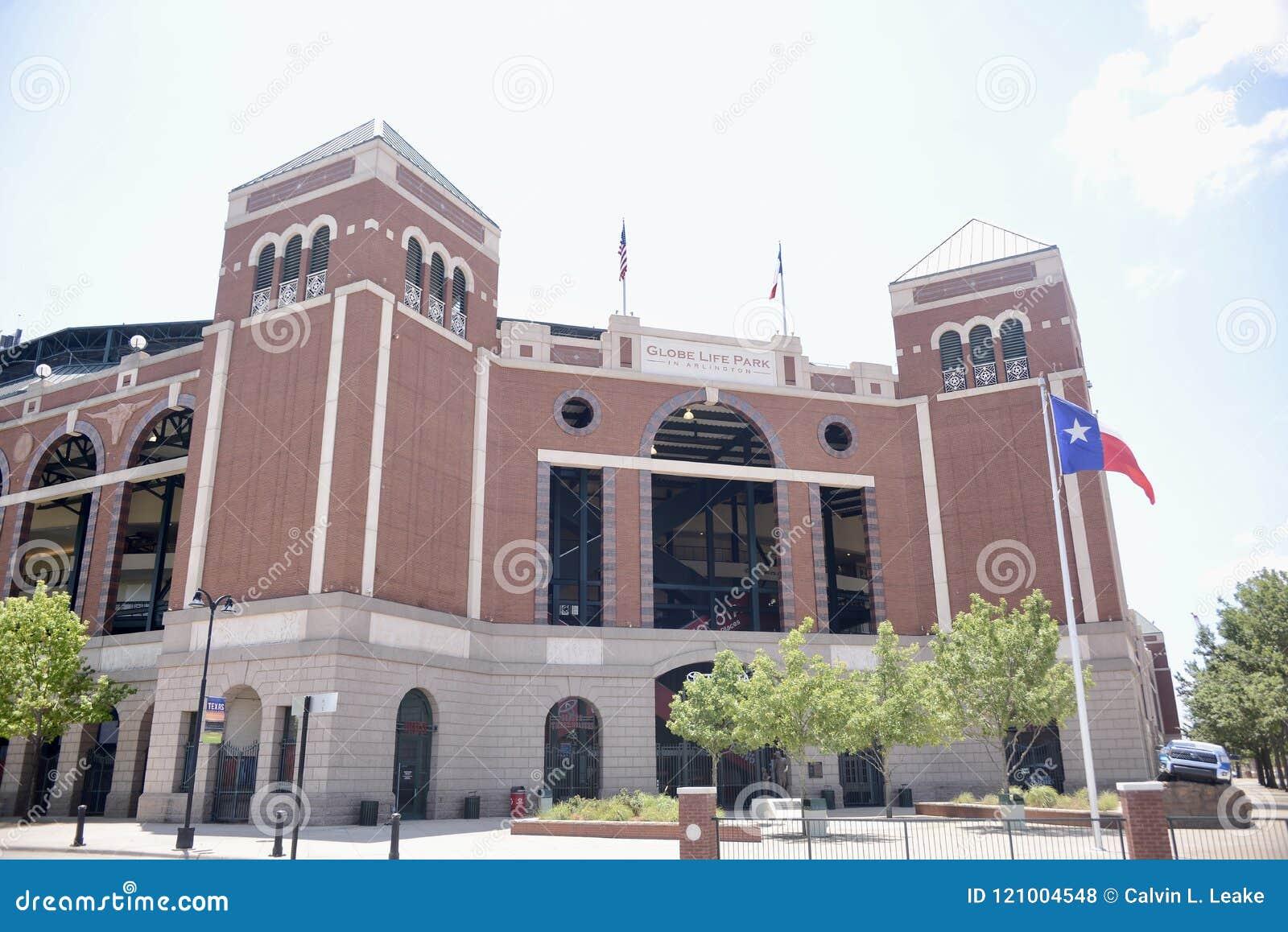 Parque da vida do globo em Arlington, Texas Rangers Stadium