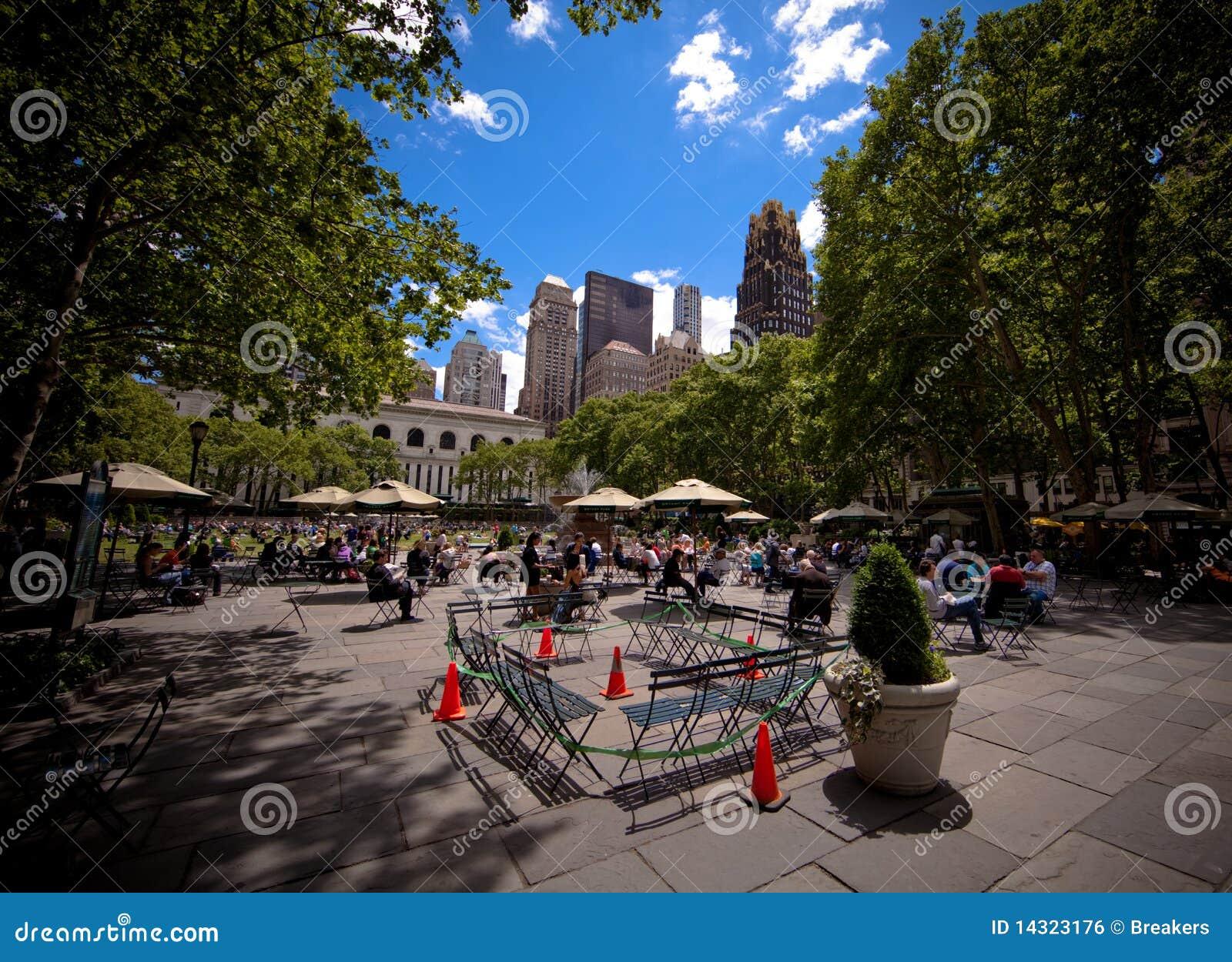 Parque de Bryant en Manhattan en New York City