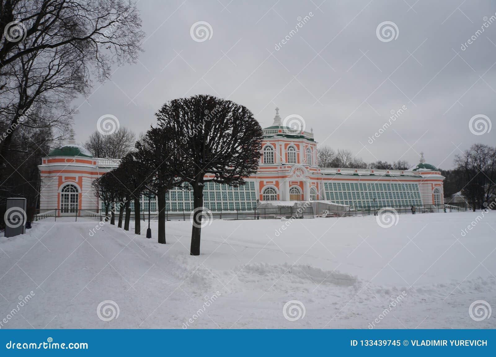 Parque de Kuskovo em Moscou Inverno nevado