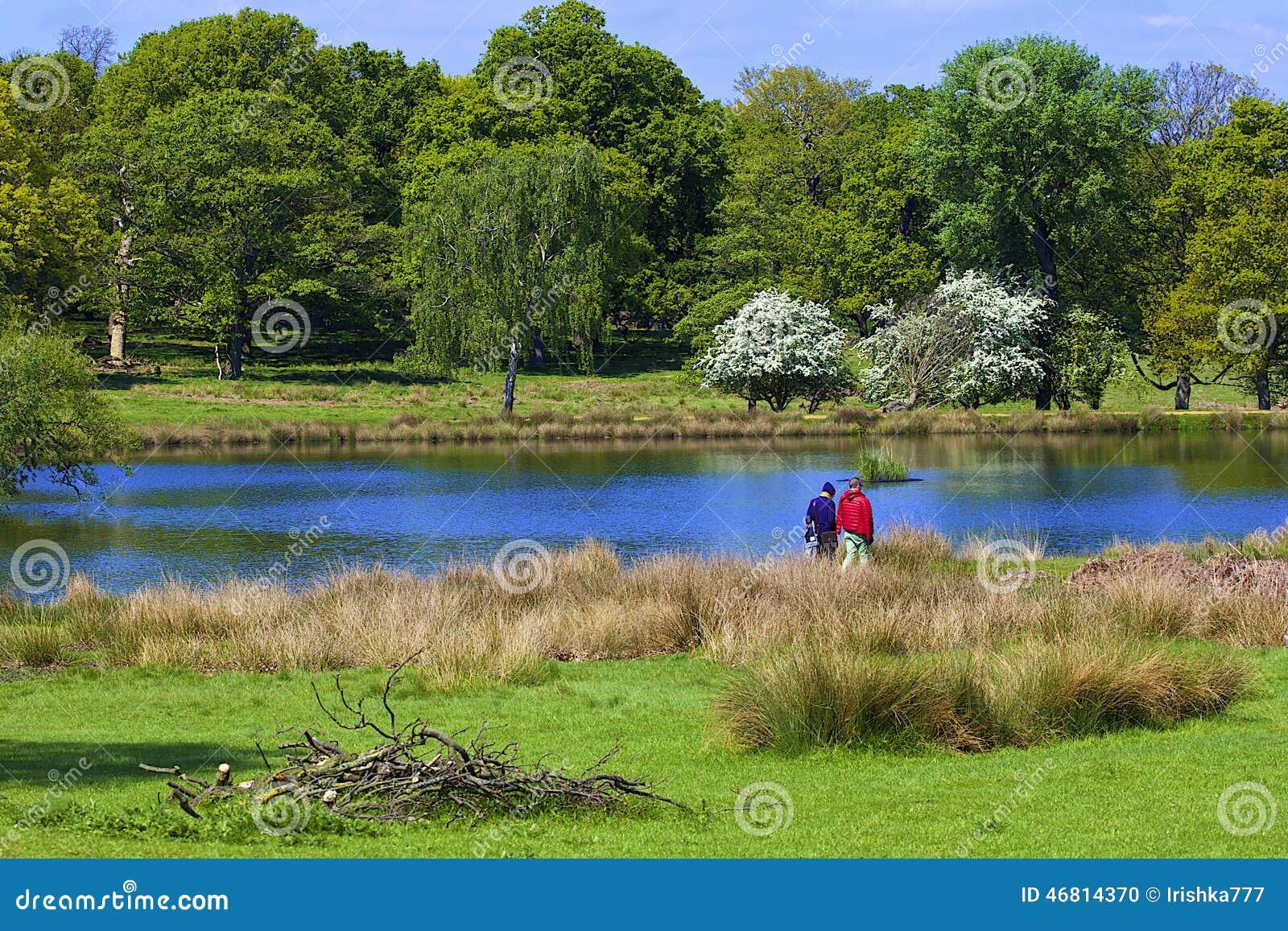 Parque de Richmond em Londres,