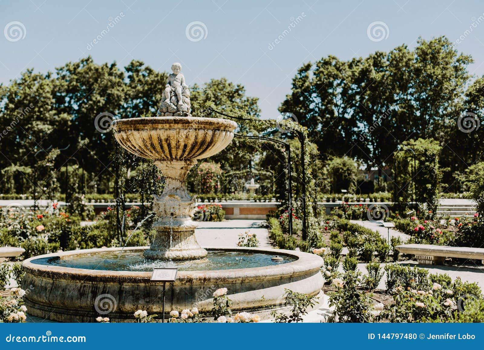 Parque del Buen Retiro i Madrid, Spanien