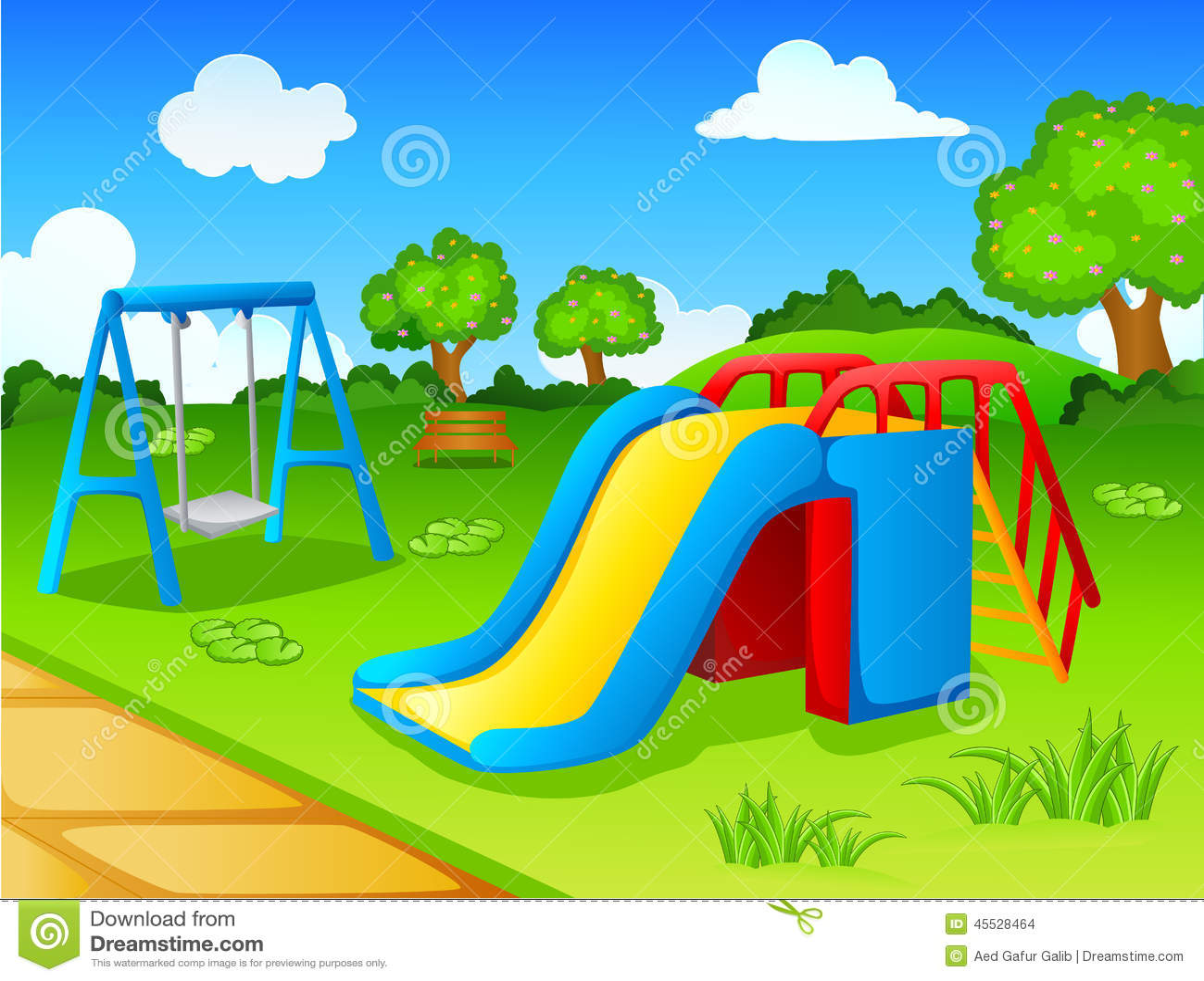 Parque Del Juego Para Los Niños Ilustración Del Vector