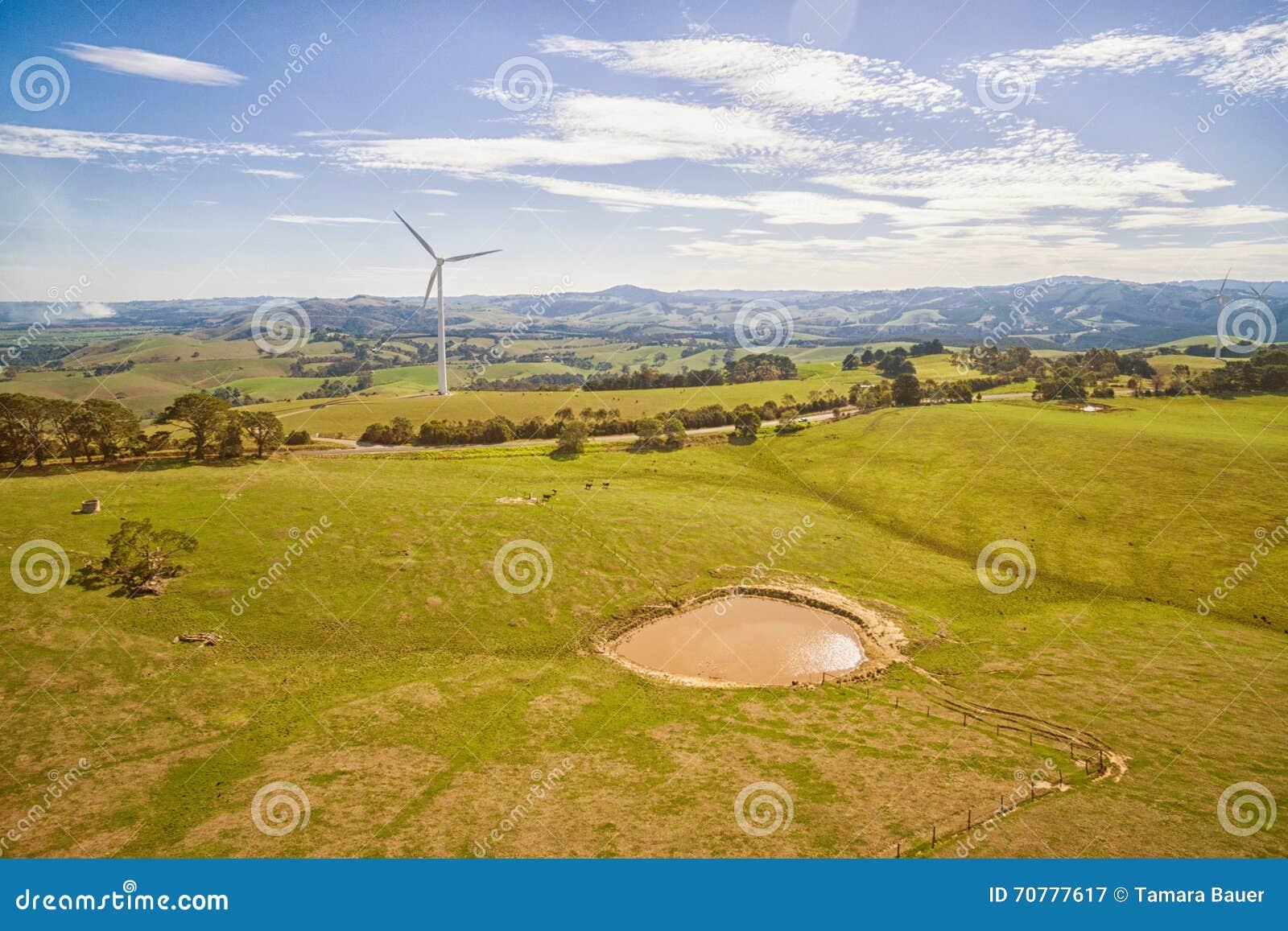 Parque eólico en Australia