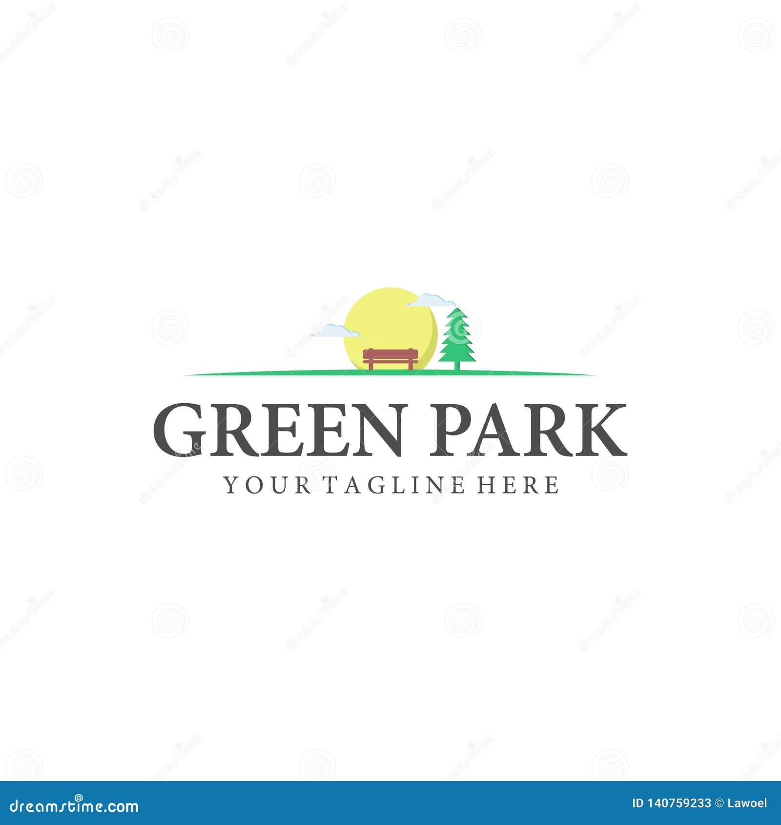 Parque e inspirações exteriores dos projetos do logotipo