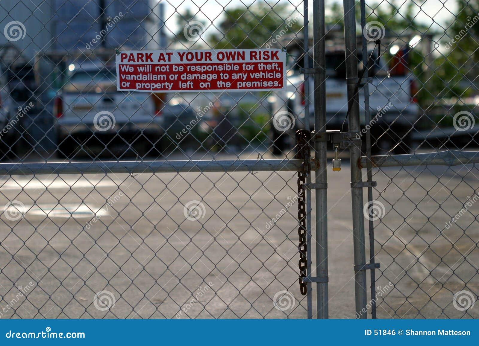 Parque em seu próprio risco