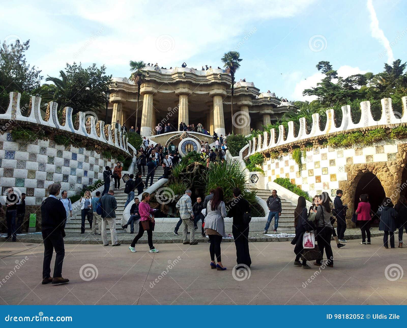 Parque Guell de Antoni Gaudi Barcelona, Cataluña, España