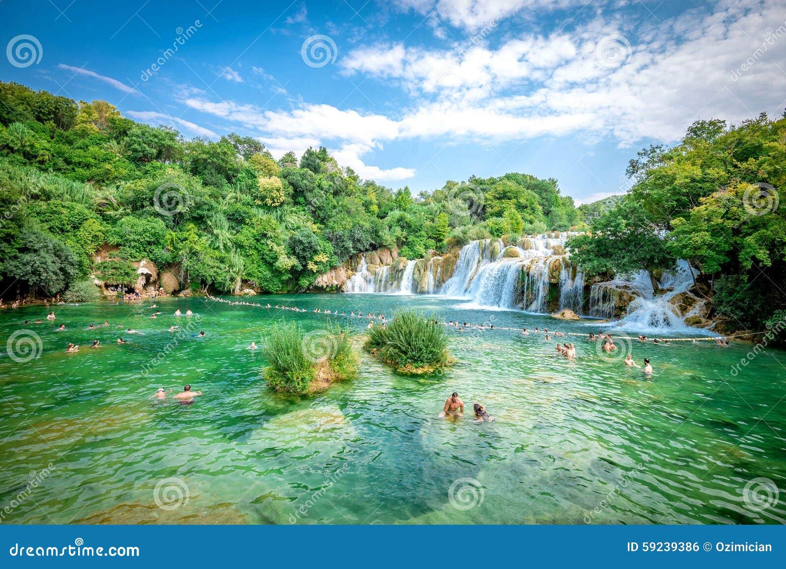 Parque nacional de Krka con las cascadas