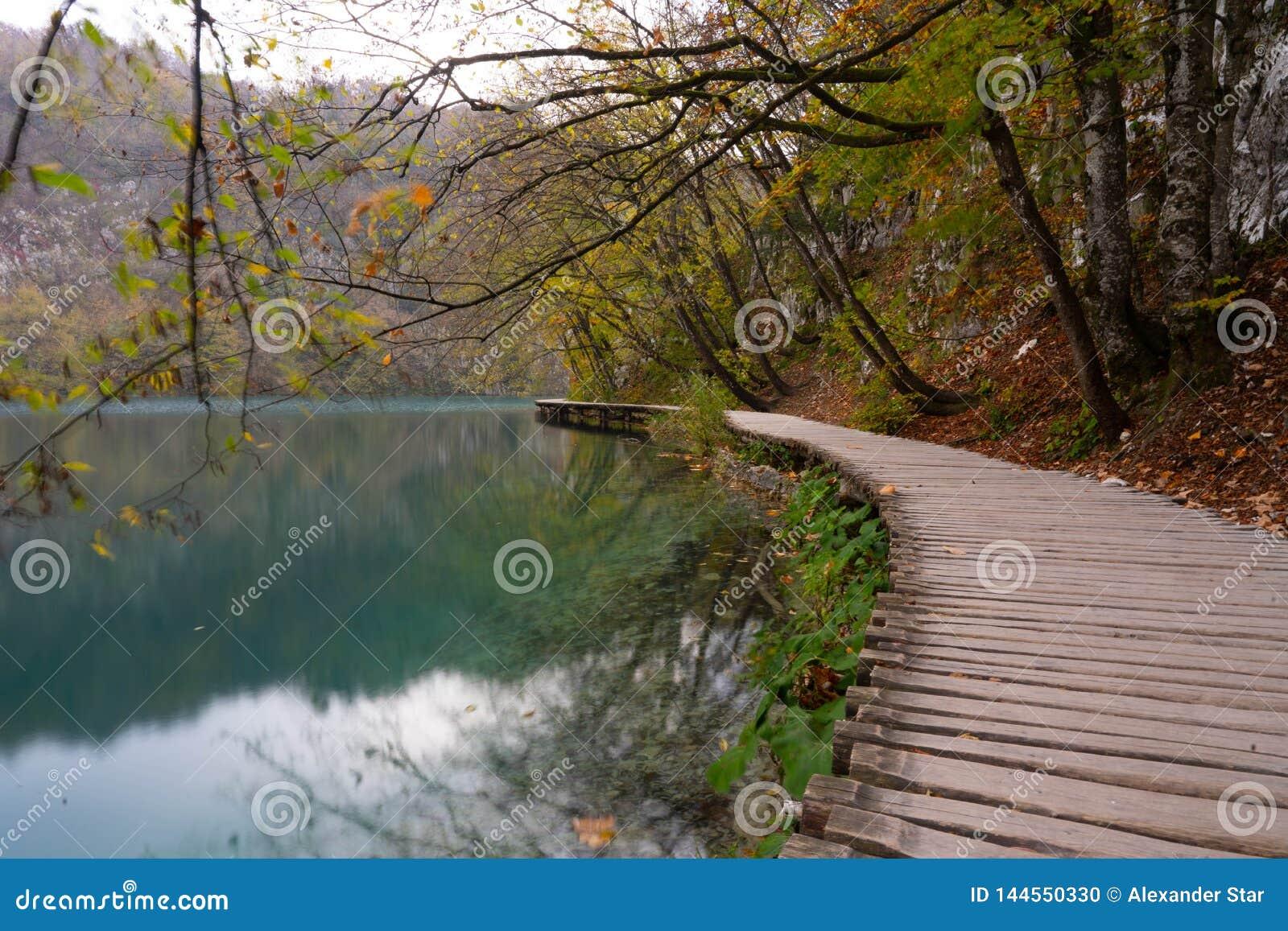 Parque nacional de los lagos Plitvice en Croatia
