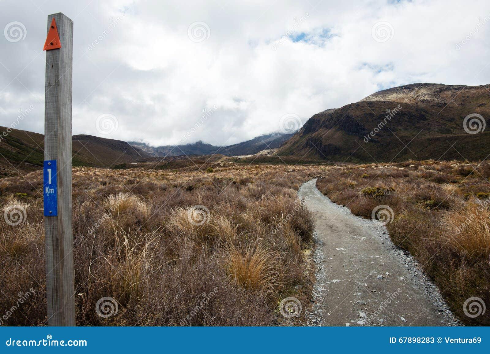 Parque nacional de Tongariro en Nueva Zelanda