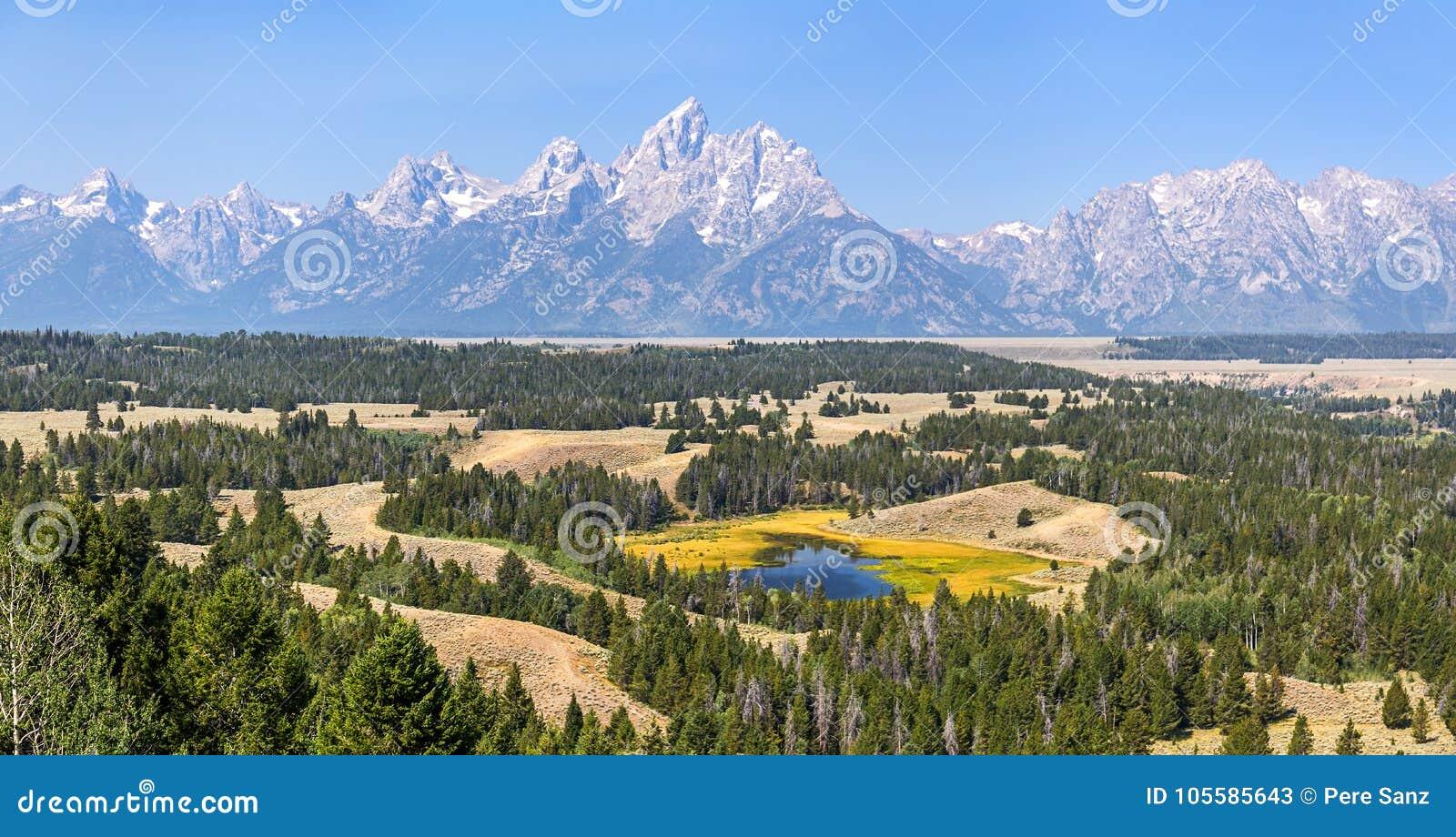 Parque nacional grande de Teton, WY