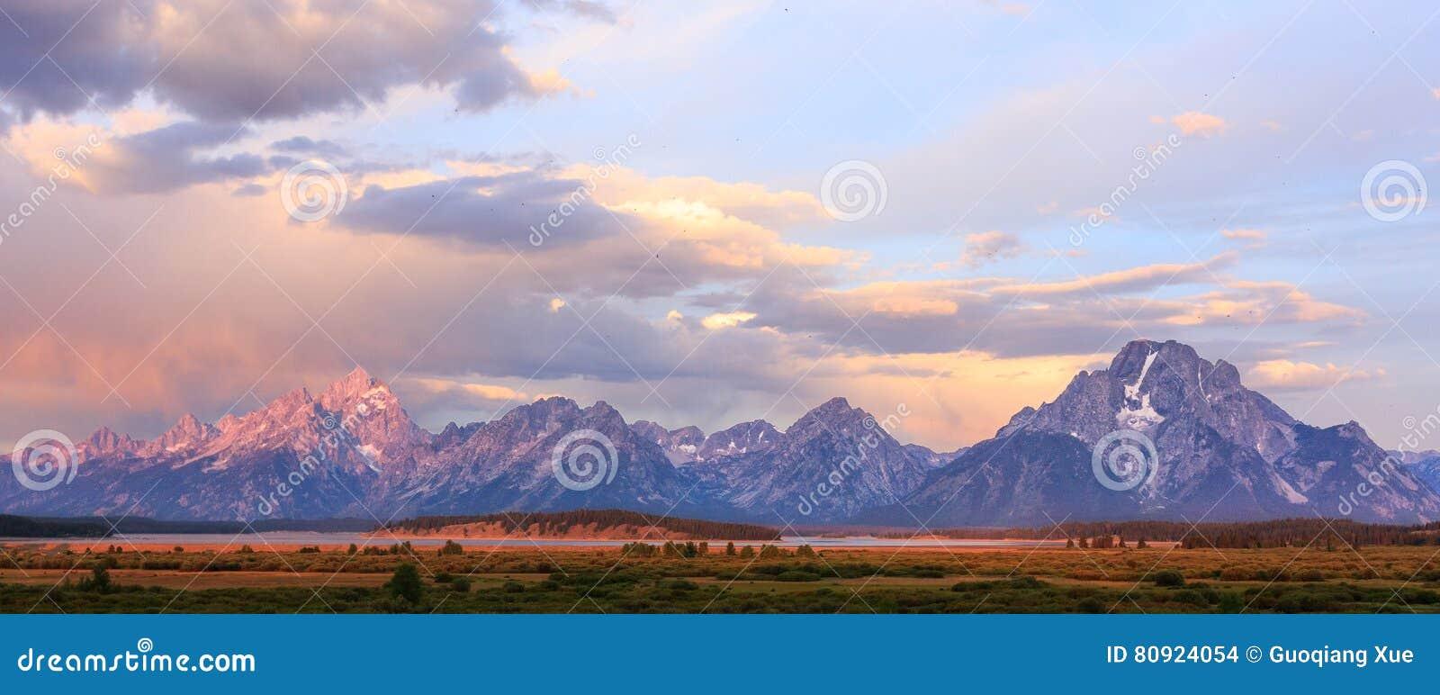 Parque nacional grande de Teton, Wyoming, EUA