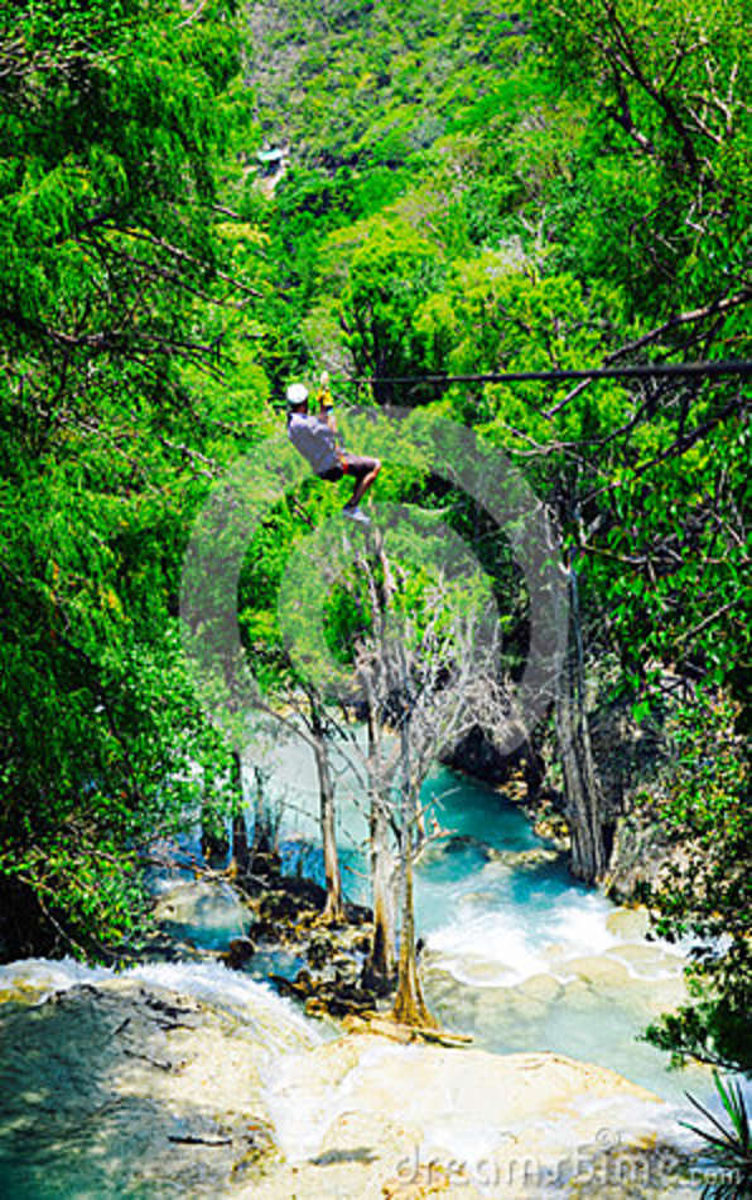 Parque natural del EL Chiflon, Chiapas, México, el 21 de mayo