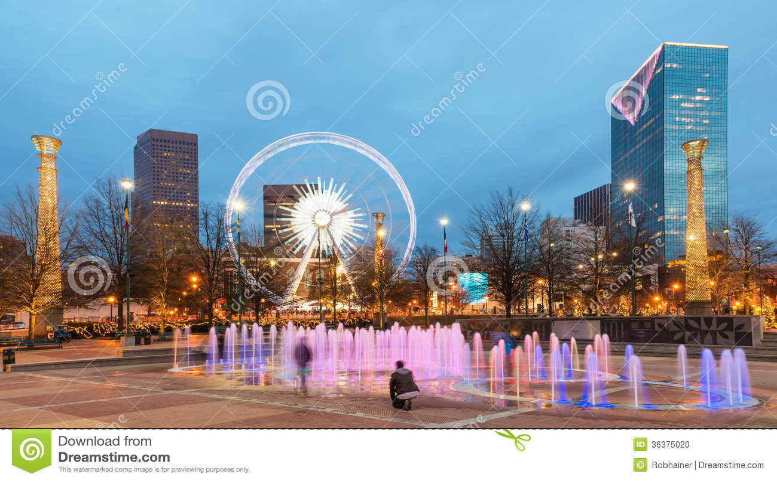 Parque olímpico centenário em Atlanta