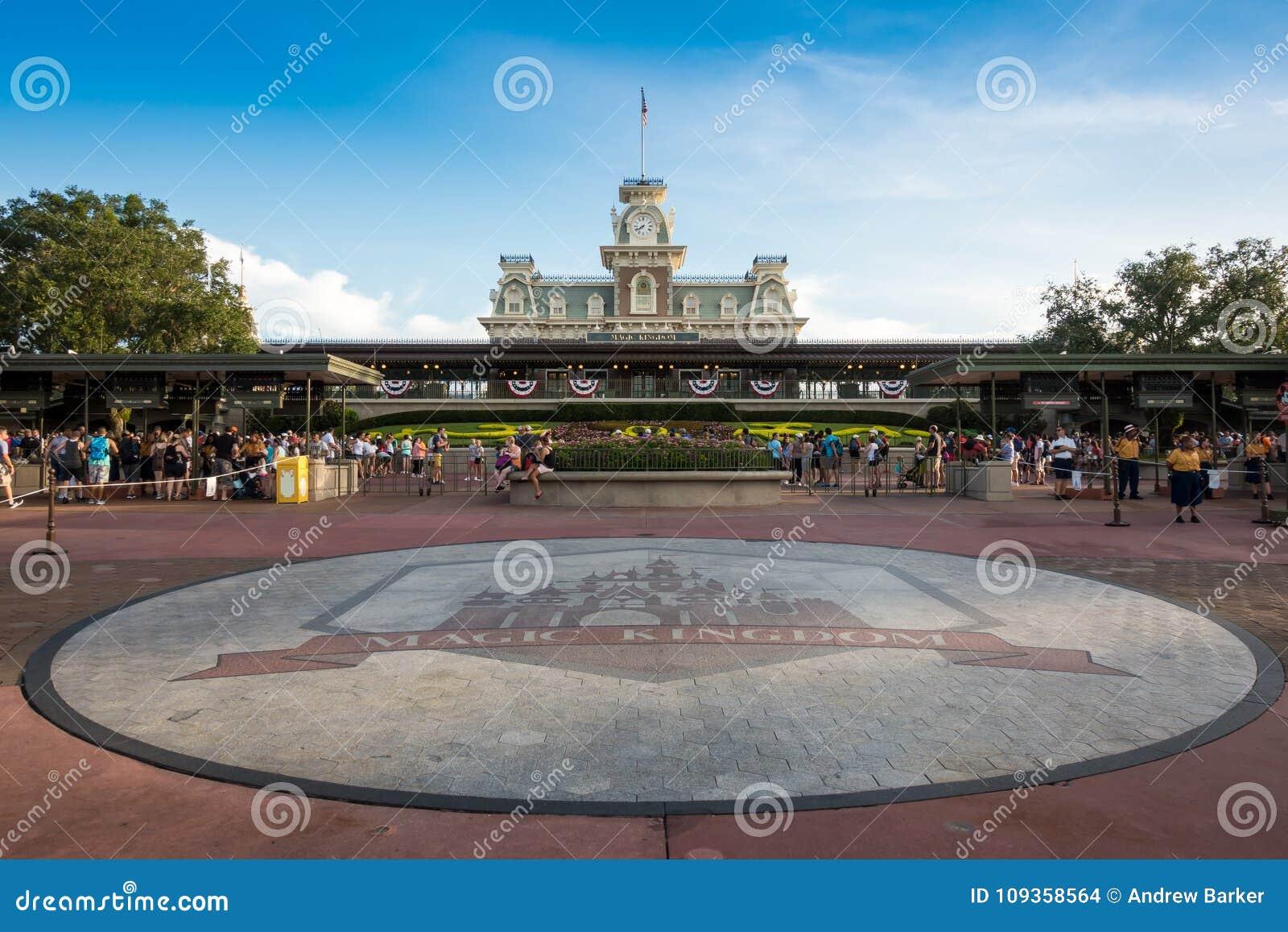 Parque temático mágico do reino