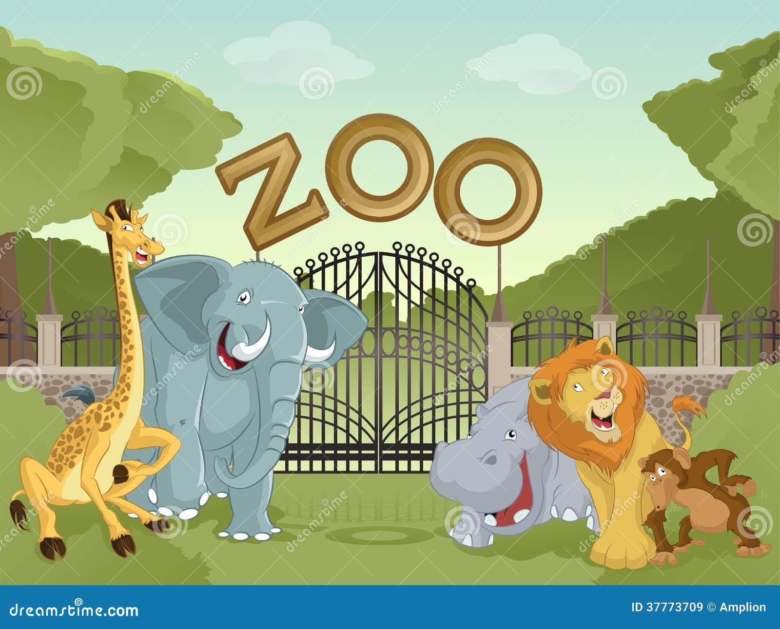 Parque zoológico con los animales africanos